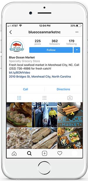 Blue Ocean Market Instagram